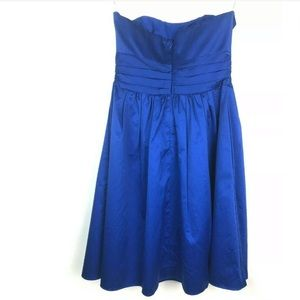 David's Bridal Dresses - David's Bridal Dress 6 Royal Blue Strapless Pleats